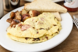 Fullblast Omelet with andouille bacon  cheddar