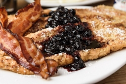 French Toast with Blueberry Compote