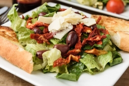 Sundried Tomato  Calamata Olive Salad with Parmesan